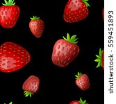 seamless pattern with strawberry | Shutterstock .eps vector #559451893