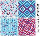 set of four abstract geometric... | Shutterstock .eps vector #559455307
