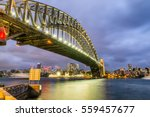 sydney harbour bridge at night  ... | Shutterstock . vector #559457677