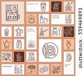 coffee making equipment vector... | Shutterstock .eps vector #559469893