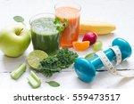 fruits  vegetables  juice ... | Shutterstock . vector #559473517