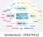 diagram of website production... | Shutterstock .eps vector #559479313