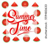 vector image summer time  with... | Shutterstock .eps vector #559483633