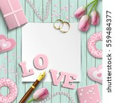 romantic background with pink... | Shutterstock .eps vector #559484377