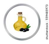 olive oil bottle with cartoon... | Shutterstock .eps vector #559485973