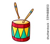 funny and cute colorful african ... | Shutterstock .eps vector #559488853