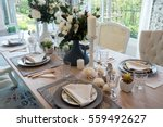 dining room and table  | Shutterstock . vector #559492627