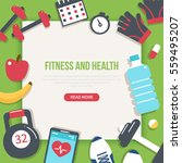 fitness and health banner.... | Shutterstock .eps vector #559495207