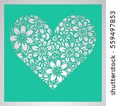 die cut card. laser cut vector...   Shutterstock .eps vector #559497853