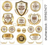 retro badges collection | Shutterstock .eps vector #559507477