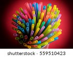 Colorful Drinking Straws In...
