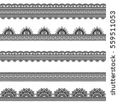 set of seamless borders for... | Shutterstock .eps vector #559511053