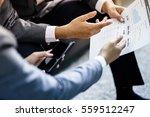 business adviser analyzing... | Shutterstock . vector #559512247
