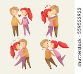 cute love couple collection.... | Shutterstock .eps vector #559523923