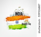 india republic day celebration... | Shutterstock .eps vector #559526887