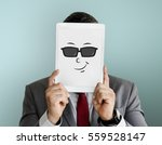 face expression emotional... | Shutterstock . vector #559528147