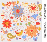 colorful vector set of forest... | Shutterstock .eps vector #559532593