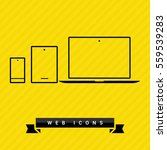 computer mobile phone tablet ...   Shutterstock .eps vector #559539283