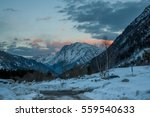 Winter Mountain Landscape At...