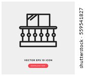 balcony vector icon. modern ... | Shutterstock .eps vector #559541827
