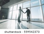 two young businessmen are... | Shutterstock . vector #559542373