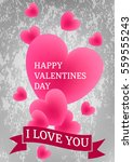happy valentine's day.the image ... | Shutterstock .eps vector #559555243