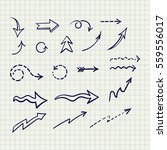vector drawings of arrows for... | Shutterstock .eps vector #559556017