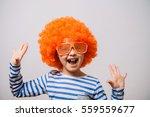 little girl clown | Shutterstock . vector #559559677