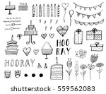 happy birthday party elements... | Shutterstock .eps vector #559562083