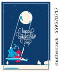 cute romantic card for... | Shutterstock .eps vector #559570717