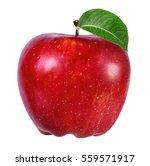 apple isolated on white... | Shutterstock . vector #559571917