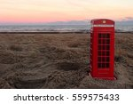 Phone Box On The Beach