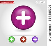 colored icon or button of plus... | Shutterstock .eps vector #559585303