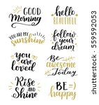 lettering vector set.... | Shutterstock .eps vector #559592053