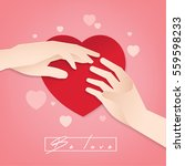 hand  love  happy valentine...   Shutterstock .eps vector #559598233