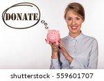 businesswoman giving money... | Shutterstock . vector #559601707