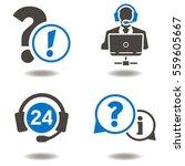 support 24 7 headset call... | Shutterstock .eps vector #559605667