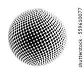 halftone globe logo  vector... | Shutterstock .eps vector #559610077
