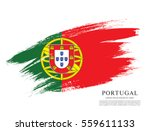 Flag Of Portugal  Brush Stroke...