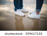 detail of the legs and shoes of ... | Shutterstock . vector #559617133