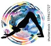 women silhouette on galaxy...   Shutterstock .eps vector #559617727