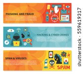hacking and cyber crime  ... | Shutterstock .eps vector #559619317