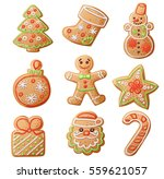 gingerbread cookies set...