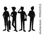 silhouette teens boy student...   Shutterstock .eps vector #559624513
