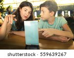 siblings brother and sister... | Shutterstock . vector #559639267