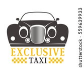 taxi badge vector illustration. | Shutterstock .eps vector #559639933