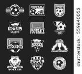 soccer sign vector set. | Shutterstock .eps vector #559640053