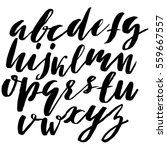 hand drawn font made by dry... | Shutterstock .eps vector #559667557