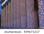 white pillars decorated with... | Shutterstock . vector #559671217