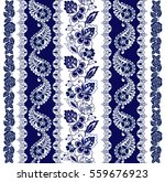 set of lace bohemian seamless... | Shutterstock .eps vector #559676923